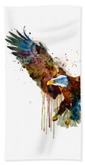 Free And Deadly Eagle Bath Towel