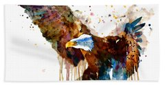 Free And Deadly Eagle Hand Towel