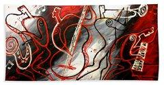 Free Jazz Bath Towel by Leon Zernitsky