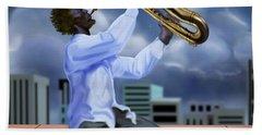 Free Jazz Moon Hand Towel