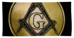 Free Masons - Knights Templar Bath Towel by Paul W Faust - Impressions of Light