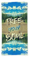 Free Your Soul Trianon Chateau Garden Versailles Paris Bath Towel