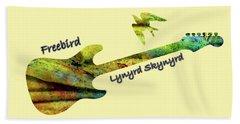 Freebird Lynyrd Skynyrd Ronnie Van Zant Bath Towel