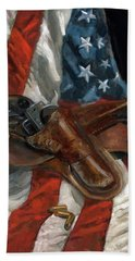 Hand Towel featuring the painting Freedom by Billie Colson