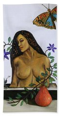 Bath Towel featuring the painting Freedom by Leah Saulnier The Painting Maniac