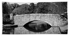 Freedom Park Bridge In Black And White Hand Towel