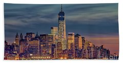 Freedom Tower Construction End Of 2013 Hand Towel