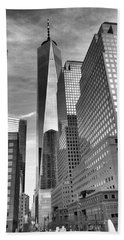 Bath Towel featuring the photograph Freedom Tower by Joan Reese