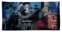 Freedom Train Three Bath Towel by Evie Carrier
