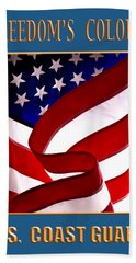 Freedom's Colors Uscg Bath Towel by George Robinson
