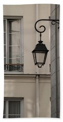French Alley Lantern-sepia Hand Towel