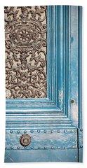 French Blue - Paris Door Hand Towel by Melanie Alexandra Price