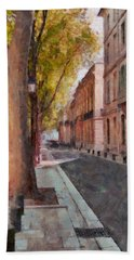 Hand Towel featuring the photograph French Boulevard by Scott Carruthers