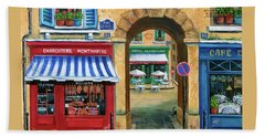 French Butcher Shop Hand Towel
