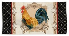 French Country Roosters Quartet 4 Bath Towel