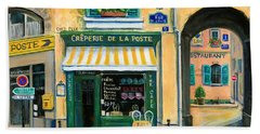French Creperie Bath Towel