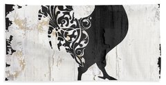 French Farm Sign Rooster Hand Towel