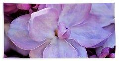 French Lilac Flower Bath Towel