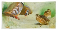 French Partridge By Thorburn Hand Towel