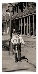 Hand Towel featuring the photograph French Quarter As It Once Was by KG Thienemann