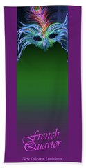 French Quarter Bookmark Bath Towel