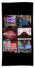 French Quarter Signs Poster Bath Towel