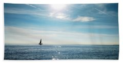 Bath Towel featuring the photograph French Riviera Waters by Katie Wing Vigil