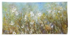 Fresh As A Daisy Hand Towel by Valerie Travers