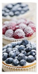 Fresh Berry Tarts Bath Towel