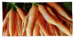 Fresh Carrots From The Summer Garden Hand Towel by GoodMood Art