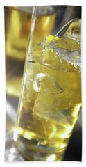 Hand Towel featuring the photograph Fresh Drink With Lemon by Carlos Caetano