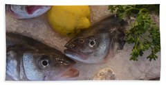 Bath Towel featuring the photograph Fresh Fish by Chris Coffee