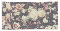 Fresh Flower Pattern Background Hand Towel