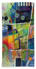 Hand Towel featuring the painting Fresh Jazz by Hailey E Herrera