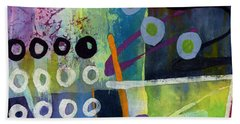 Bath Towel featuring the painting Fresh Jazz In A Square 2 by Hailey E Herrera
