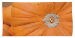 Fresh Organic Orange Giant Pumking Harvesting From Farm At Farme Hand Towel by Jingjits Photography
