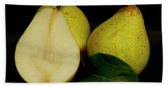 Fresh Pears Fruit Hand Towel by David French