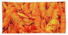 Fresh Shell Fish For Sale Bath Towel by Allan Levin