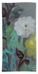 Hand Towel featuring the painting Fresh Start  by Robin Maria Pedrero