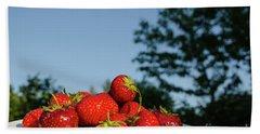 Bath Towel featuring the photograph Fresh Strawberriesl by Kennerth and Birgitta Kullman