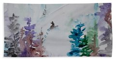 Hand Towel featuring the painting Fresh Tracks by Beverley Harper Tinsley