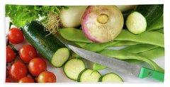 Fresh Vegetables Hand Towel by Carlos Caetano