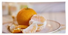 Hand Towel featuring the photograph Freshly Peeled Citrus by Cindy Garber Iverson