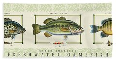 Freshwater Gamefish Bath Towel