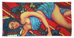 Frida Kahlo - Dreaming Of Diego Bath Towel