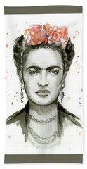 Frida Kahlo Portrait Hand Towel