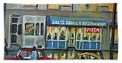Friday Night At Sal's Hand Towel by Rita Brown