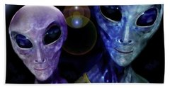 Friendly  Universe  Citizens  Hand Towel by Hartmut Jager
