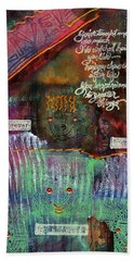 Bath Towel featuring the mixed media Friends Forever by Angela L Walker