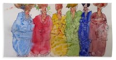 The Crazy Hat Society Hand Towel by Marilyn Jacobson